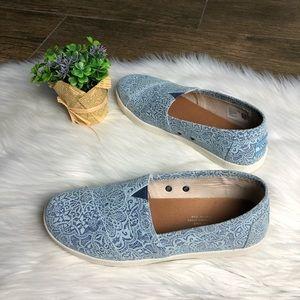 Toms Avalon Blue Leather